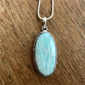 Amazonite gemstone handmade necklace NWOT